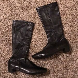 Prada leather pull on boots